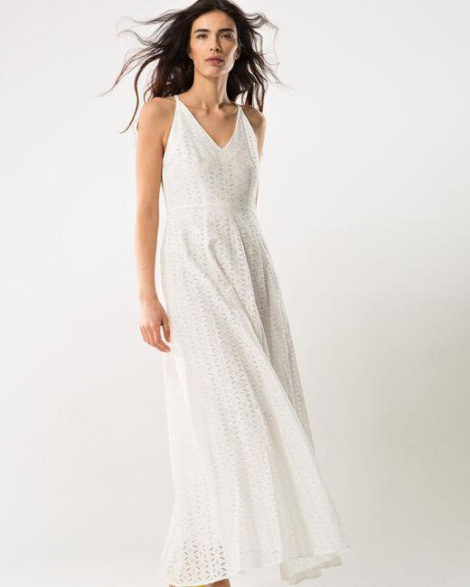 Robe longue blanche à dentelle Bulle (1) - 1-2-3