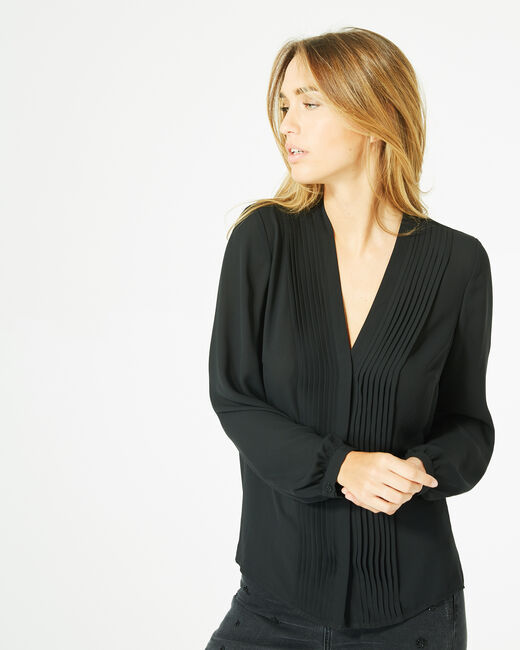 Doris black blouse with long sleeves (2) - 1-2-3