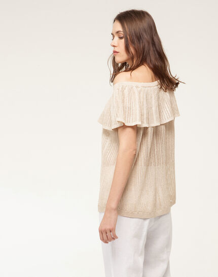 Holiday golden top with wide frilled design (4) - 1-2-3