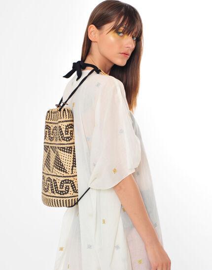 Pakito black and white beach basket (5) - 1-2-3