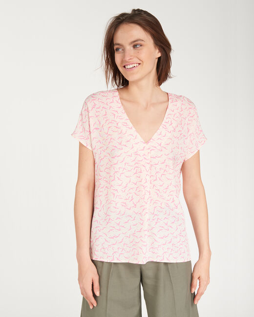 Billkiss pink shirt with a bird print (1) - 1-2-3