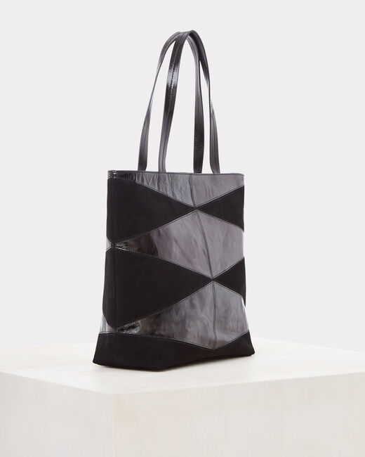 Rafi dual-fabric black bag (2) - 1-2-3
