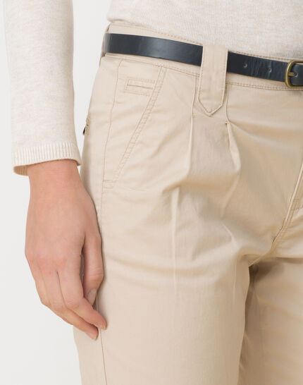 Diane tapered beige trousers with belt (5) - 1-2-3