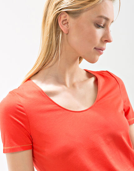 Tee-shirt orange Noon (3) - 1-2-3