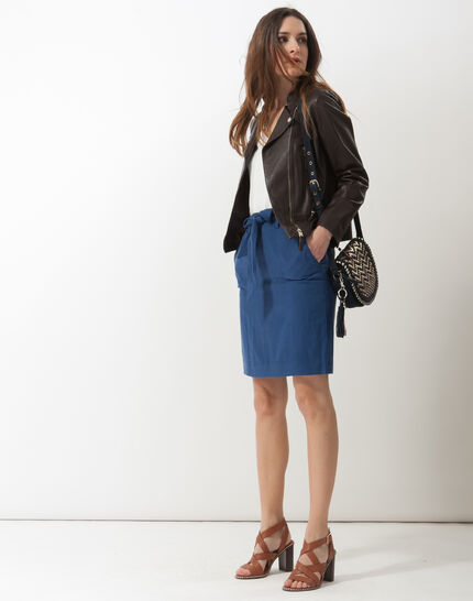 Dolce lyocell blue skirt (2) - 1-2-3