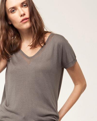 Hope khaki short-sleeved sweater (1) - 1-2-3
