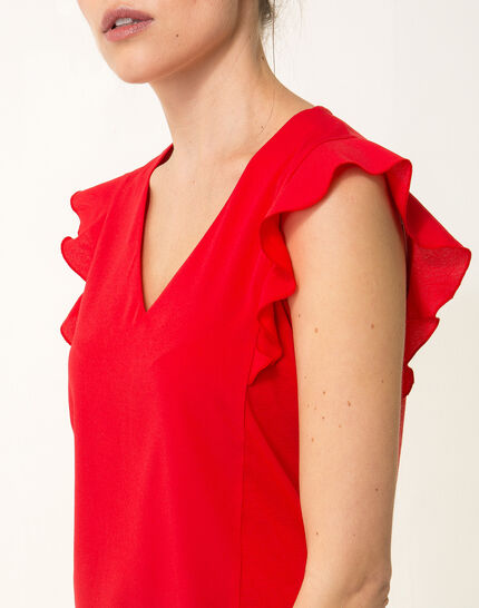 Tee-shirt rouge Nathalie (2) - 1-2-3