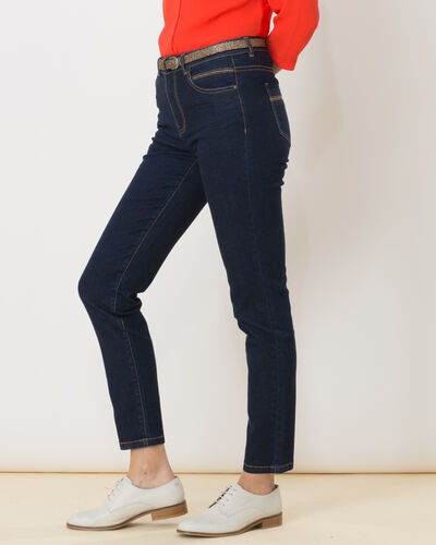 7/8 length raw-look jeans with golden belt (2) - 1-2-3