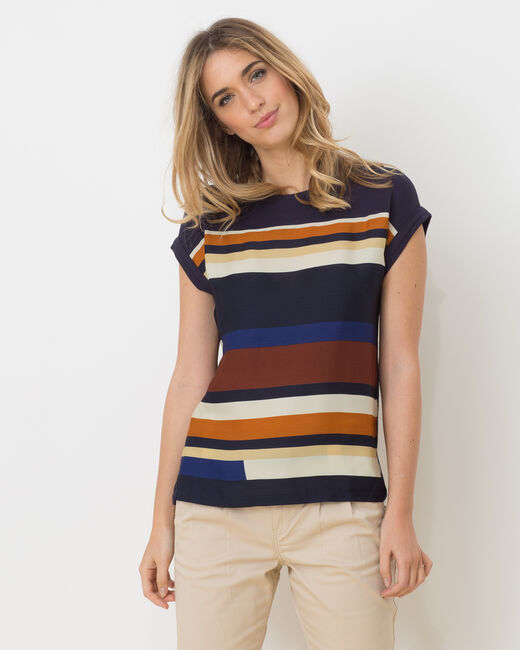 Tee-shirt rayé bleu Lune (2) - 1-2-3