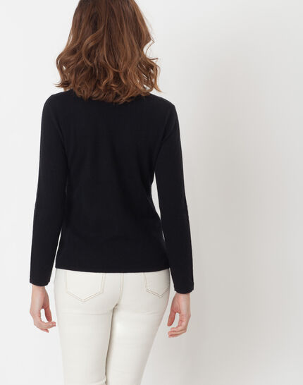 Heart black cashmere sweater (3) - 1-2-3
