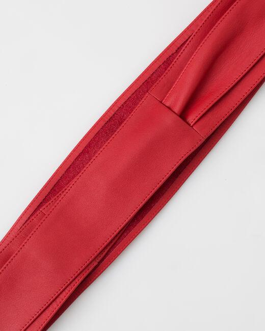 Ceinture large rouge en cuir Odile (2) - 1-2-3