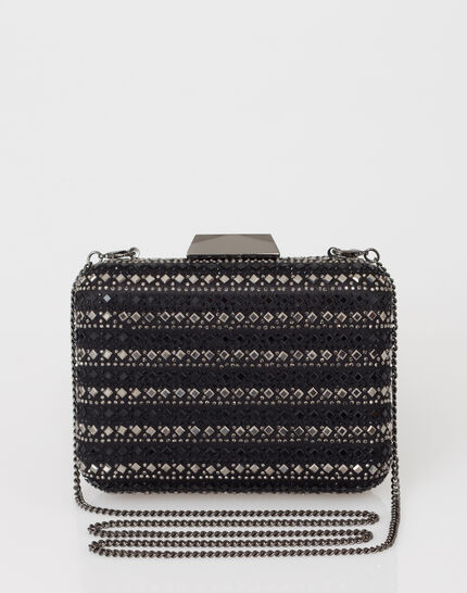 Black diamanté clutch bag (2) - 1-2-3