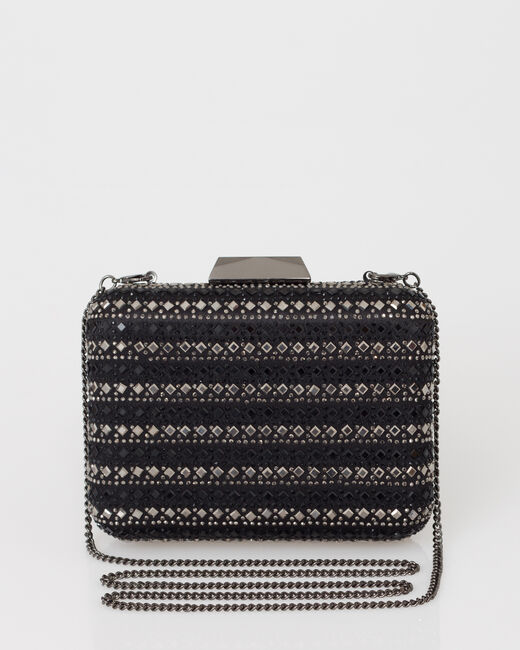 Black diamanté clutch bag (1) - 1-2-3