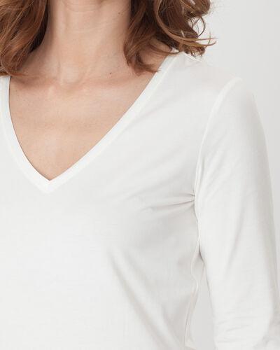 Nacre ecru T-Shirt with 3/4 length sleeves (2) - 1-2-3