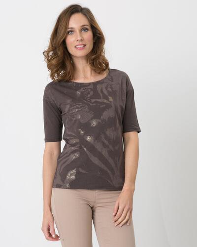 Neko brown T-shirt with safari print (1) - 1-2-3