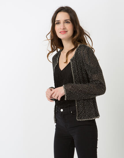 Katy black embroidered jacket (2) - 1-2-3