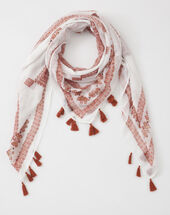 Salma red printed scarf.