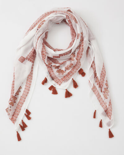 Salma red printed scarf (1) - 1-2-3
