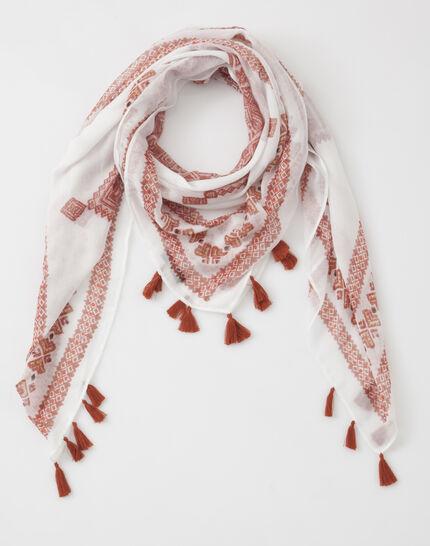 Salma red printed scarf (2) - 1-2-3
