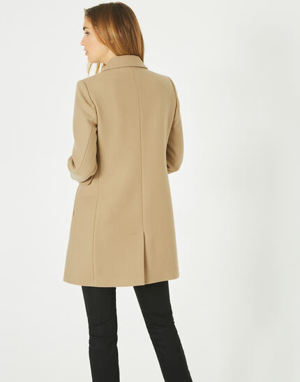 Plume belted camel wool mix coat (5) - 1-2-3