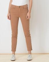 Pia camel 7/8 length satin trousers light camel.