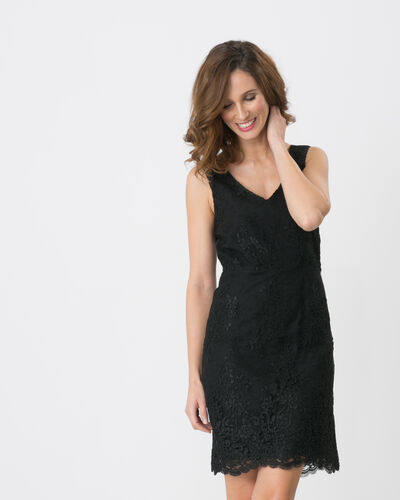 Firenze black dress with lace detailing (2) - 1-2-3