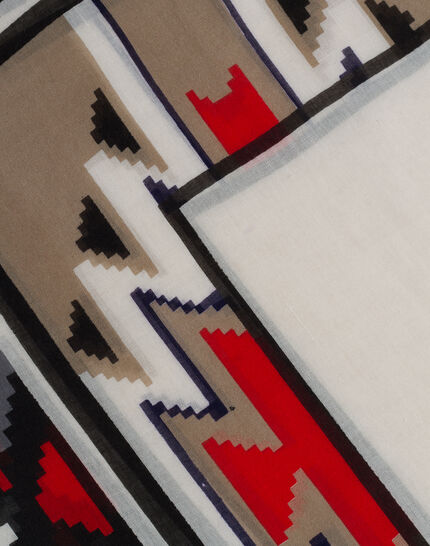 Sandro graphic print scarf (3) - 1-2-3