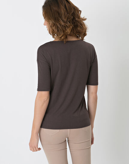 Neko brown T-shirt with safari print (3) - 1-2-3