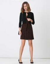 Haltesse black knit bolero black.