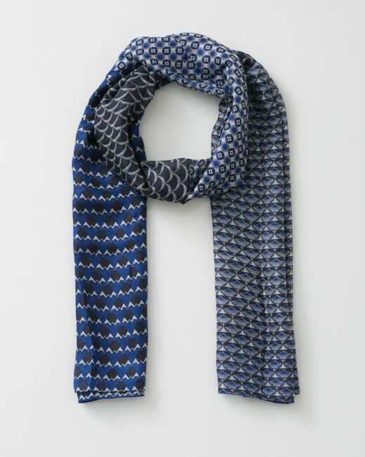 Foulard imprimé bleu marine Saphia (1) - 1-2-3