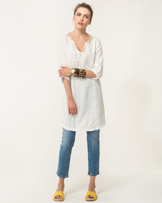 Blanche ecru linen dress (1) - 1-2-3