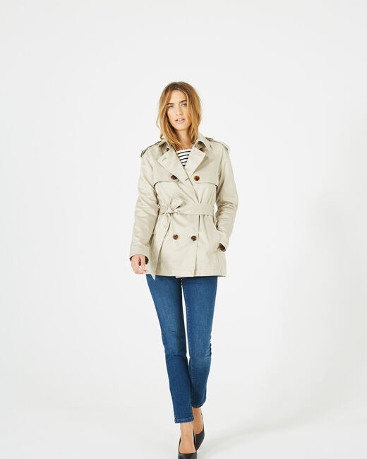 Trench crème court Jeanne (1) - 1-2-3