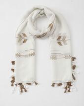 Sylvio white printed scarf white.