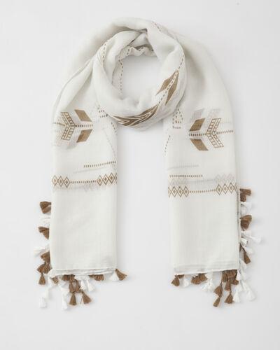 Sylvio white printed scarf (1) - 1-2-3