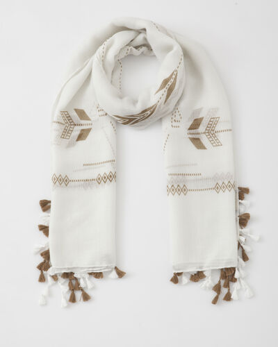 Foulard blanc imprimé Sylvio (1) - 1-2-3