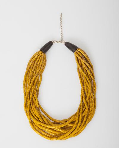 Collier ethnique perlé jaune Wasabi (1) - 1-2-3