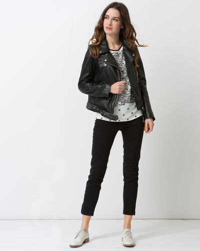 Gabriel black leather jacket (1) - 1-2-3