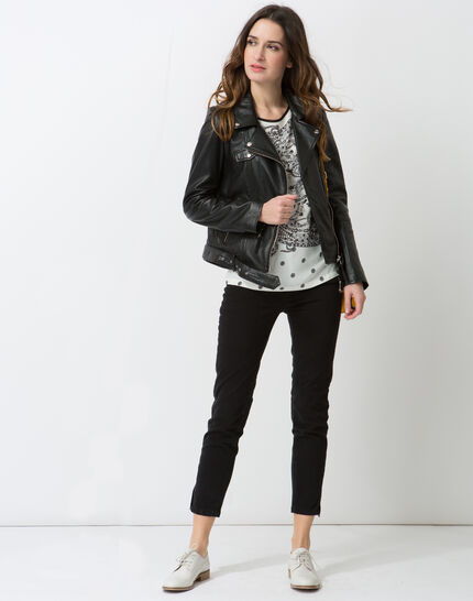 Gabriel black leather jacket (2) - 1-2-3