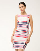 Bérangère linen striped dress multicolour.