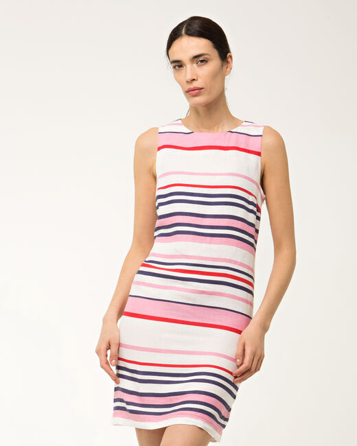 Bérangère linen striped dress (2) - 1-2-3