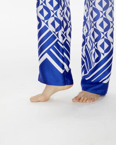 Pantalon bleu imprimé gréométrique Deborah (2) - 1-2-3