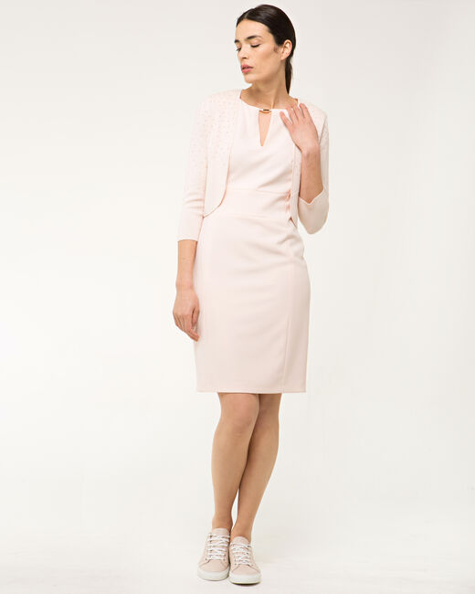 Belize powder pink belted dress (1) - 1-2-3
