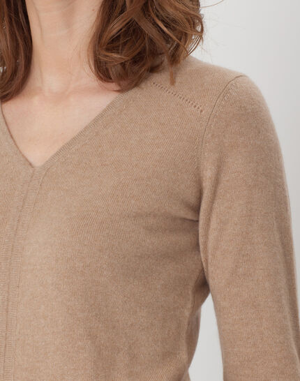 Heart taupe cashmere sweater (5) - 1-2-3