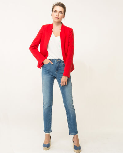 Veste rouge en lin Assina (2) - 1-2-3