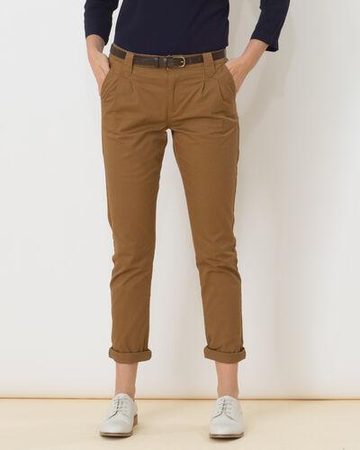 Pantalon caramel carotte Diane (2) - 1-2-3