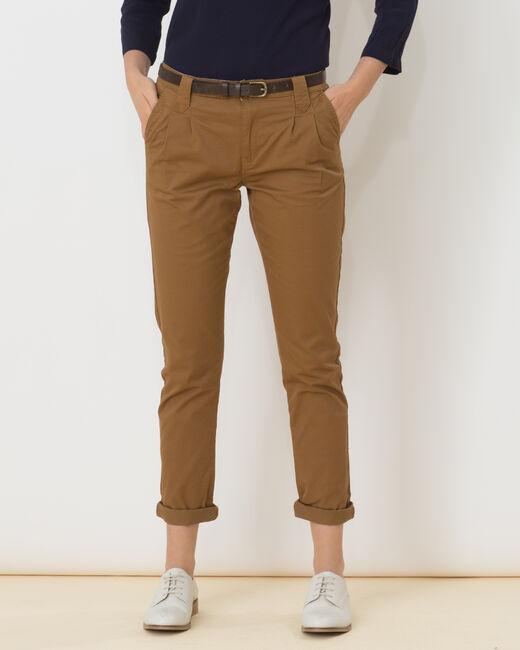 Pantalon caramel carotte Diane (1) - 1-2-3