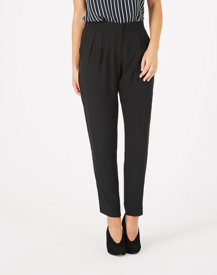 Daria black crepe trousers (1) - 1-2-3