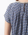 Emeraude blue printed blouse (6) - 1-2-3