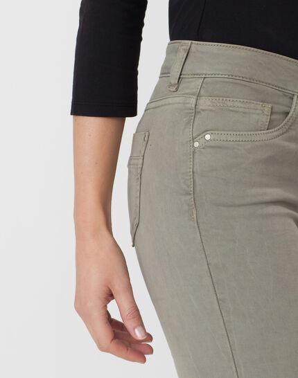 Oliver light khaki 7/8 length trousers (2) - 1-2-3