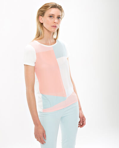 Tee-shirt pastel graphique Nano (1) - 1-2-3